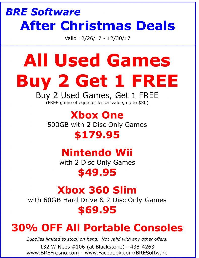 After Christmas Deals.Bre Software Fresno Retail Store After Christmas Deals